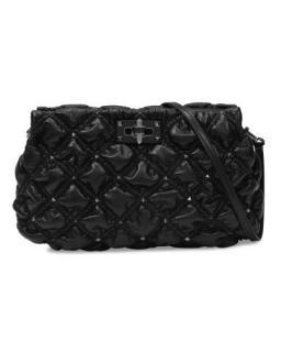 Valentino black leather Spikeme Clutch Bag