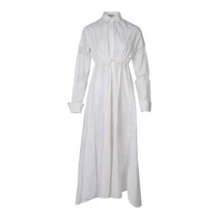 Alaia White cotton poplin Embroidered Dress