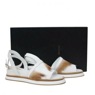 Dries Van Noten Pony Hair Platform Sandals