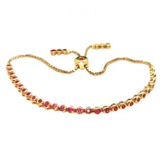Cassidy 18ct Rose Gold Ruby Tennis Bracelet