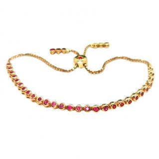 Cassidy 18ct Rose Gold Ruby Tennis Bracelet
