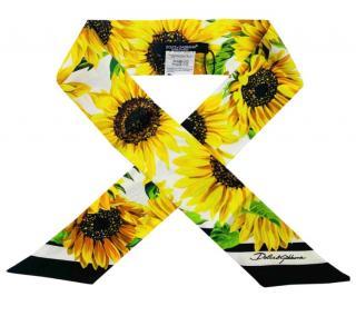 Dolce & Gabbana Sunflower Print Twilly