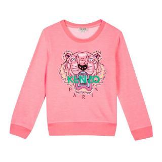Kenzo Kids 12Y Pink Tiger Patch Jumper