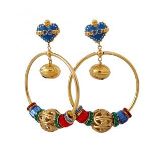 Dolce & Gabbana Crystal Drop Hoop Earrings