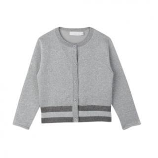 Stella McCartney Kids 12Y Grey Lurex Knit Cardigan