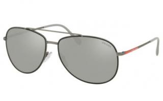 Prada SPS55U Mirrored Aviator Sunglasses