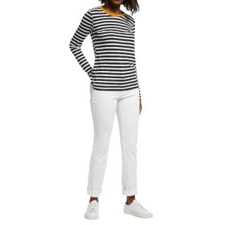 DL1961 White Mara Straight Cut Jeans