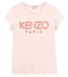 Kenzo Kids 12Y Kenzo Logo T-Shirt in Pink