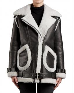 MUUBAA Miura Reversible Shearling Biker Jacket
