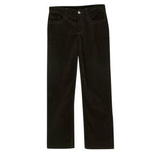 Loro Piana Brown Corduroy Straight Leg Trousers