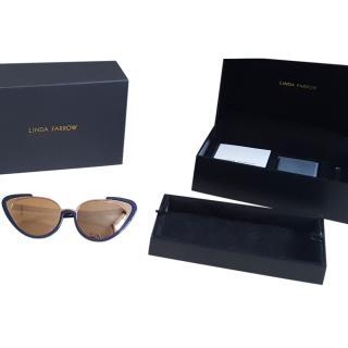 Linda Farrow Navy/Rose Gold Khira 736/C7 Sunglasses