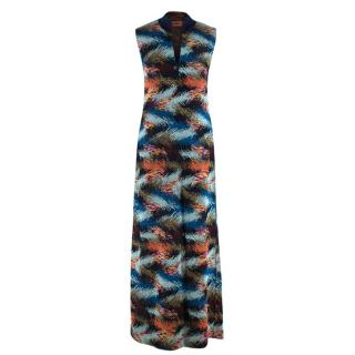 Missoni V-Neck Lurex Knit Sleeveless Maxi Dress