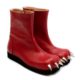 Charles Jeffrey Loverboy x Roker Red Claw Leather Boots