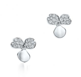 Tiffany Paper Flowers Diamond Flower Earrings
