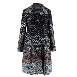 Missoni Black Zig Zag Knit Jacket