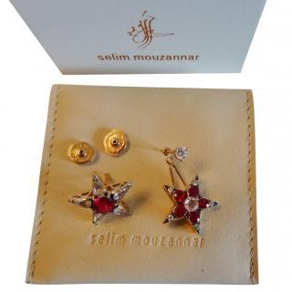 Selim Mouzannar  18ct Rose Gold Morganite & Diamond Star Istanbul Earrings