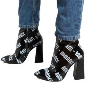 Havva Black Leather Anti Romance Ankle Boots