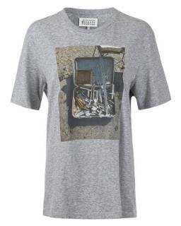Maison Margiela Grey Cotton Jersey T-Shirt