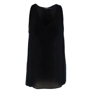 Polo Ralph Lauren Black Sleeveless Silk Blouse