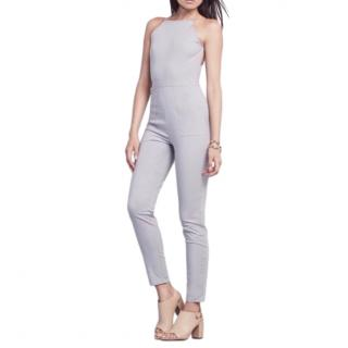 Reformation Nude Open Back Fitted Jumpsuit
