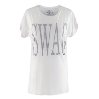 Zoe Karssen White Cotton Blend Swag T-shirt