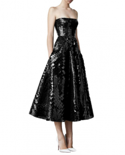 Alex Perry Croc Embossed Strapless Colt Gown