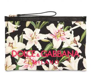Dolce & Gabbana Lily print pouch