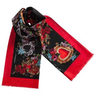 Dolce & Gabbana Sacred Heart Print Pareo Scarf