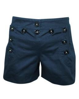 Dolce & Gabbana Black Button Detail Shorts