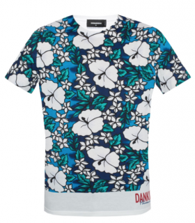 DSquared2 Dankiki Hawaii Printed T-Shirt