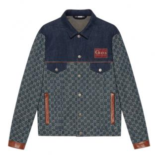 Gucci Blue Eco washed organic denim jacket
