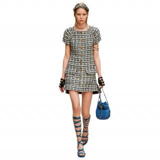 Chanel Paris/Greece Tweed Short-Sleeve Runway Mini Dress