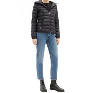 Moncler Black Bles hooded quilted down jacket
