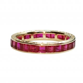 Bespoke 14ct Yellow Gold Ruby Eternity Ring