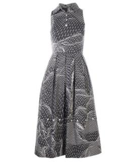 Christopher Kane Gray Landscape Digital Print Dress
