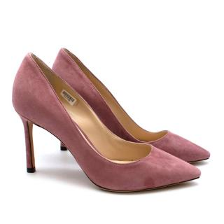 Jimmy Choo Romy 85 Pink Suede Pumps: Size 34