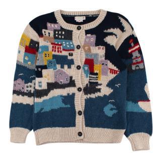 Bonpoint Kids 12Y Alpaca Blend Hand Embroidered Cardigan