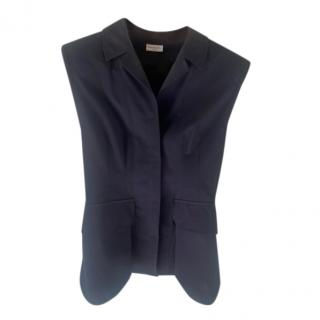Dries Van Noten Tuxedo Style Sleeveless Top