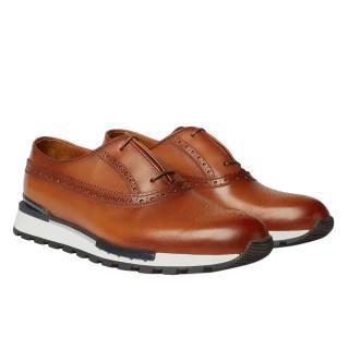 Berluti Tan Leather Sneaker Style Brogues