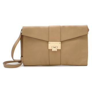 Jimmy Choo Nude Leather Shoulder/Pouch Bag