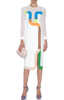 Peter Pilotto Track contrast-panelled crepe dress