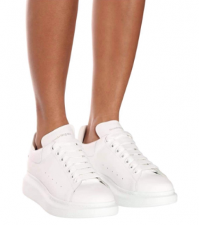 Alexander McQueen White Leather Oversize Sneakers