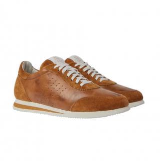 Brunello Cucinelli Tan Suede & Leather Trainers