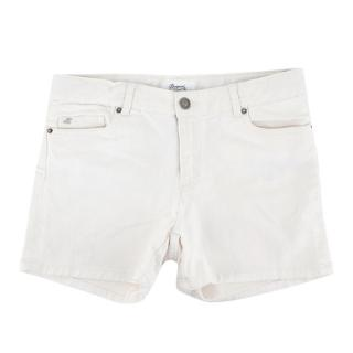 Bonpoint Girls White Denim Shorts