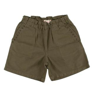 Bonpoint Girls Green Elasticated Waist Shorts