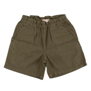 Bonpoint Girls Green Elasticated Waist Shorts
