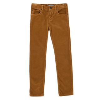 Bonpoint Ochre Cotton Corduroy Trousers