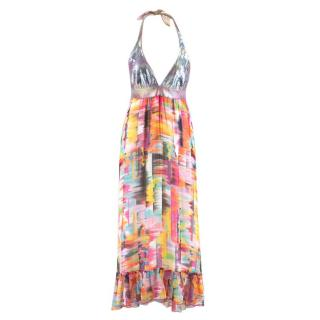 Chio di Stefania D Multicoloured Halterneck Maxi Dress