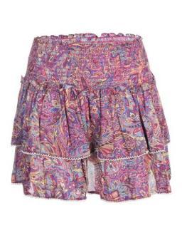 Zimmermann Paisley Print Tiered Mini Skirt