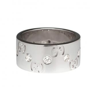 Gucci 18ct White Gold Diamond Icon Ring